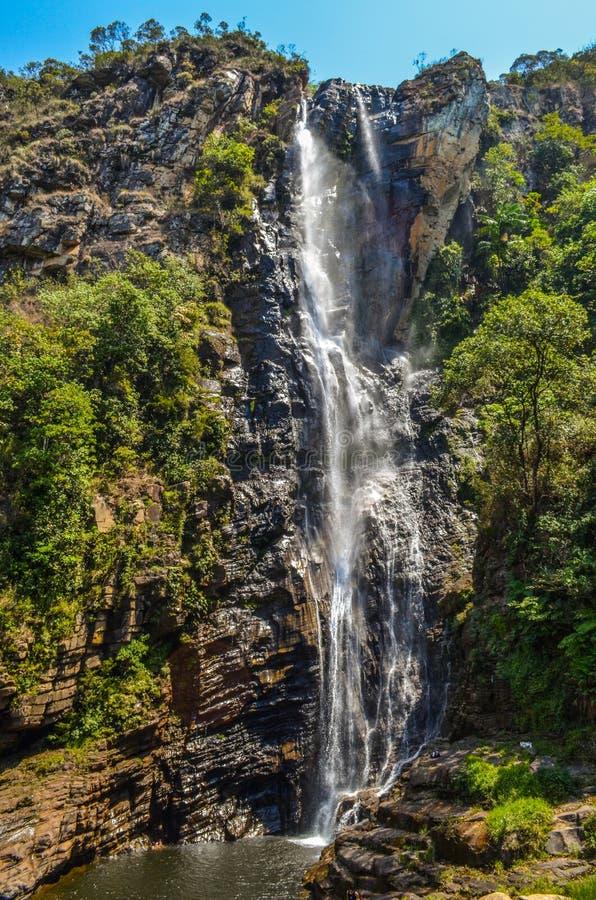 высокий водопад стоковое фото rf