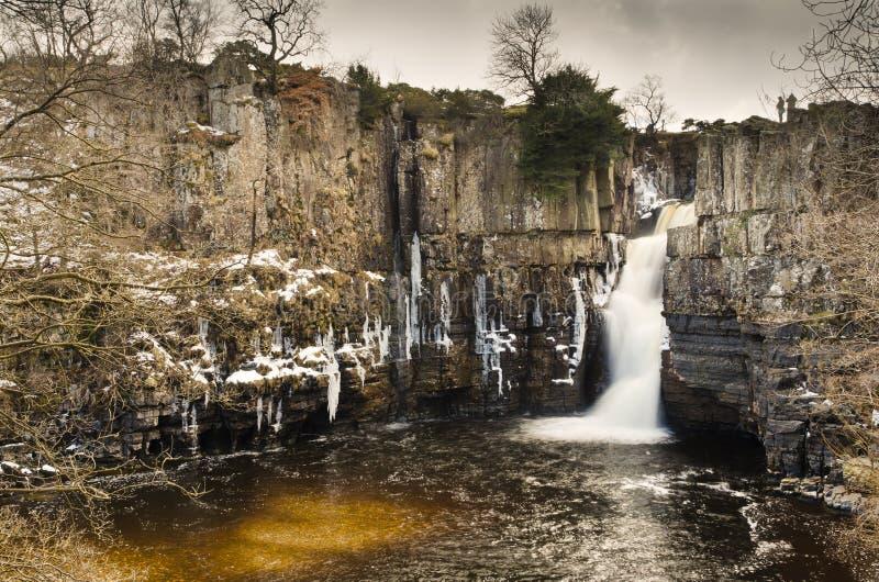 Высокий водопад усилия стоковые фотографии rf