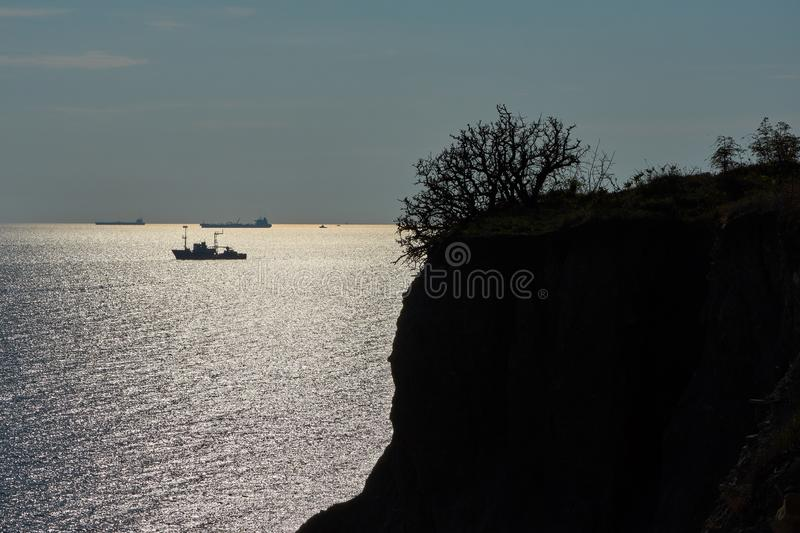 высокий заход солнца моря разрешения jpg стоковая фотография