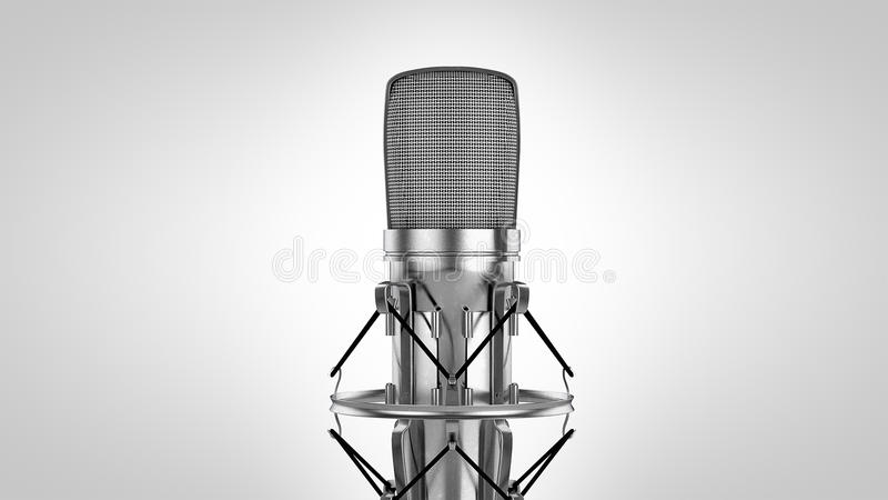 Высокий микрофон светлого тонового изображения res 3d иллюстрация штока