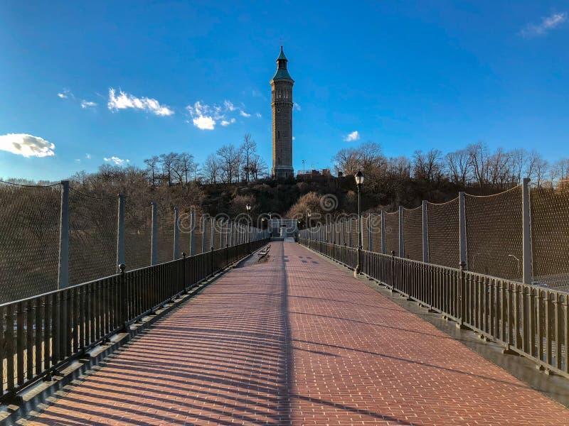 Высокий мост - Нью-Йорк стоковые фотографии rf