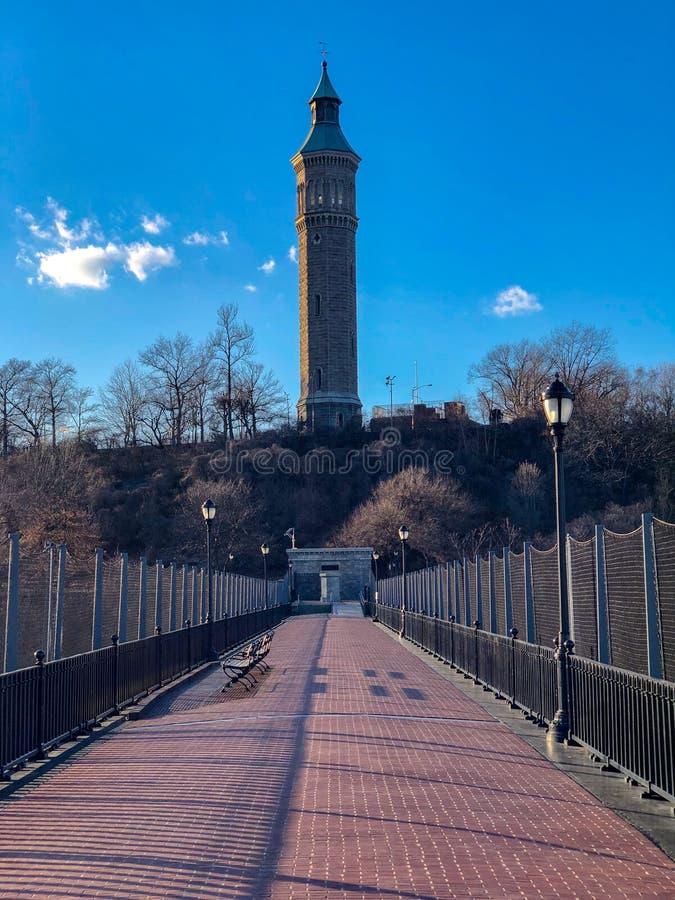 Высокий мост - Нью-Йорк стоковая фотография rf