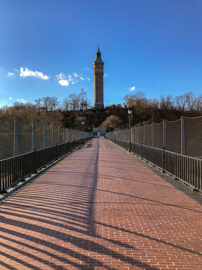 Высокий мост - Нью-Йорк стоковые изображения rf