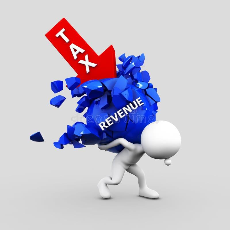 Высокий налог бизнесмена и тягота нося дохода с клиппированием бесплатная иллюстрация