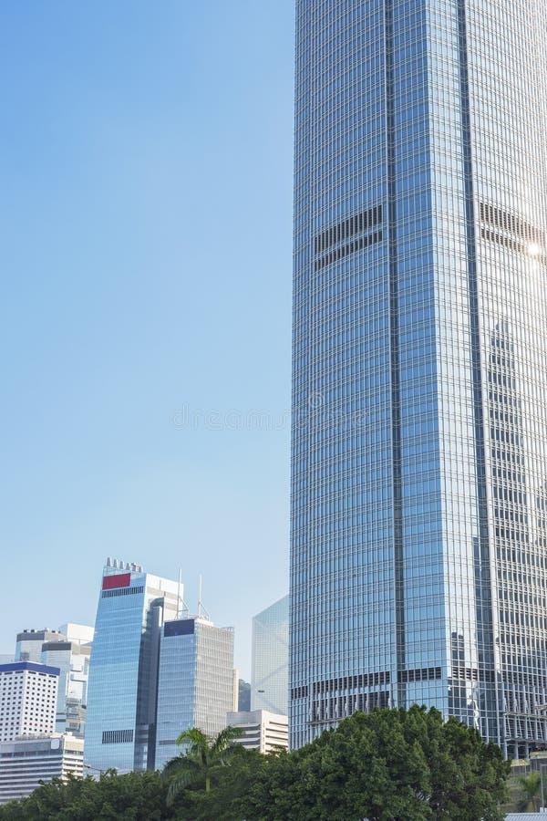 Высокий офис подъема buidling в городе Гонконга стоковые фотографии rf