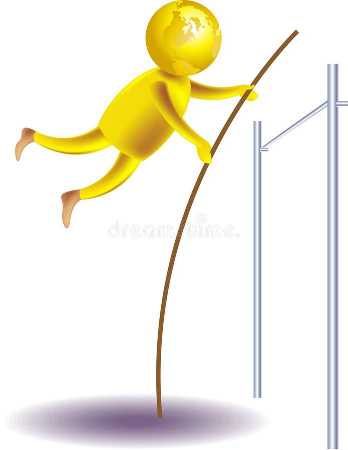 высокий прыжок бесплатная иллюстрация