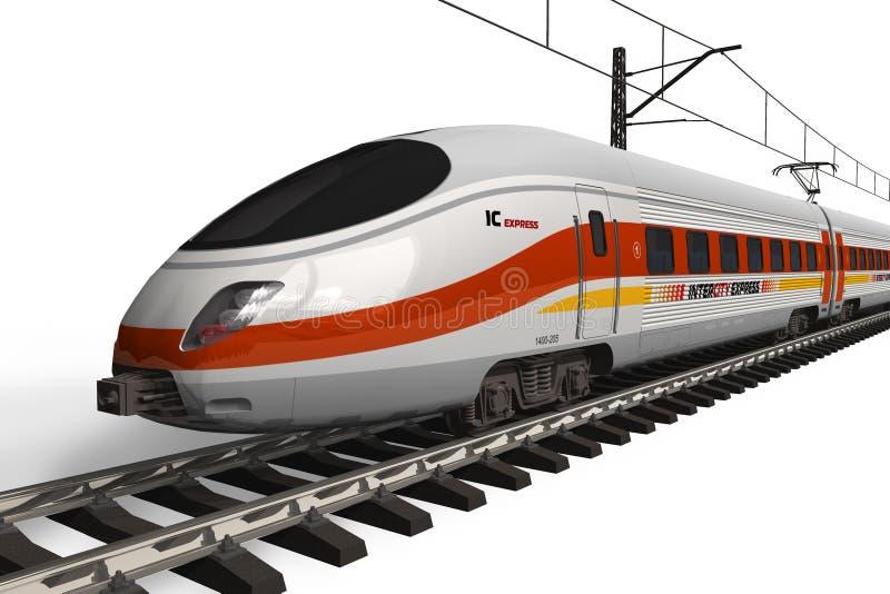 высокий самомоднейший поезд скорости бесплатная иллюстрация