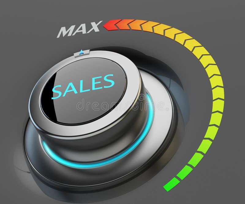 Высокий уровень концепции продаж иллюстрация вектора