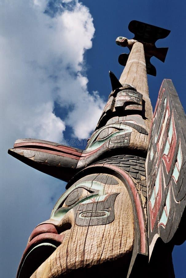 высокий totem полюса стоковая фотография rf
