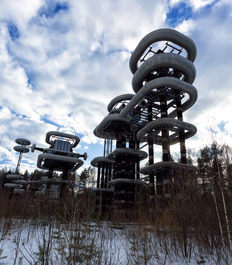 Высоковольтный генератор Marx стоковая фотография rf