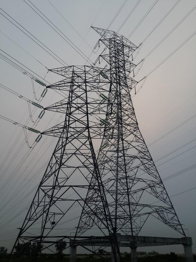 Высоковольтный электрический кабель стоковое изображение rf