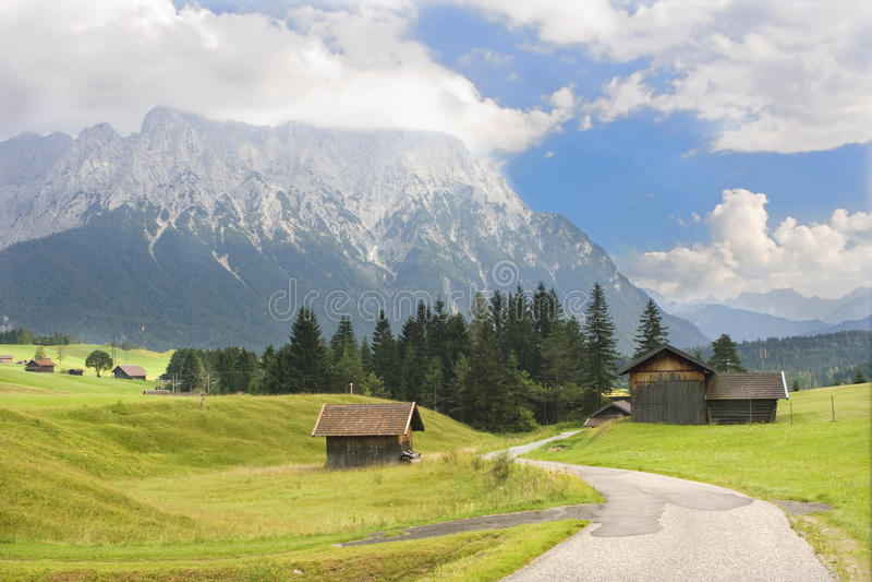 высокогорная дорога стоковое фото