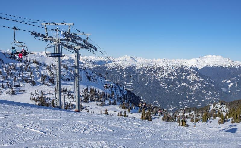 высокогорная лыжа курорта стоковое изображение rf