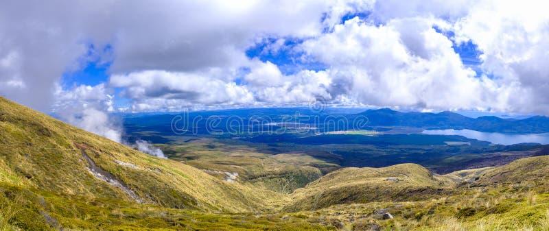 Высокогорная окружающая среда национального парка Tongariro стоковая фотография rf