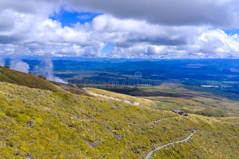 Высокогорная окружающая среда национального парка Tongariro стоковое фото rf