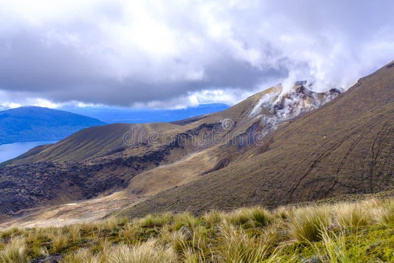 Высокогорная окружающая среда национального парка Tongariro стоковое изображение