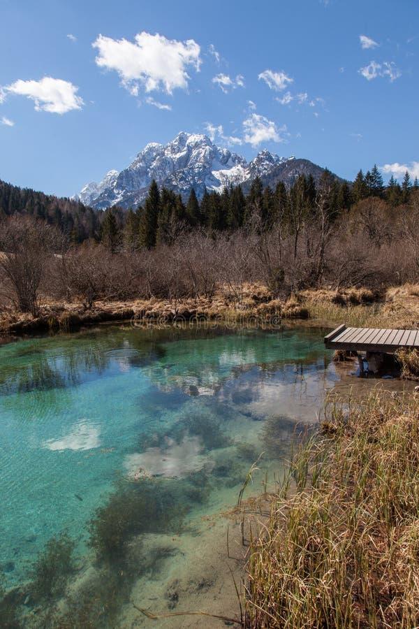 высокогорное озеро стоковое фото