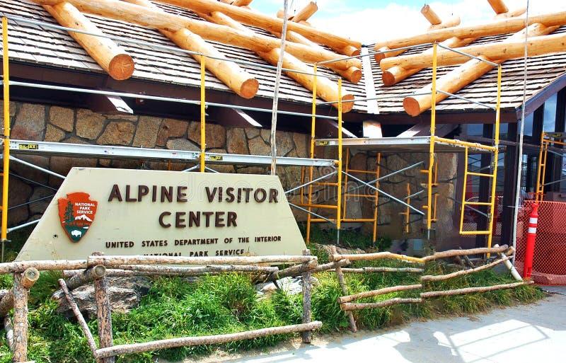 Высокогорные горы Колорадо США центра для посетителей скалистые стоковое фото rf