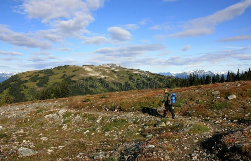 высокогорные рему hiking трасса человека музыкальная стоковое фото rf