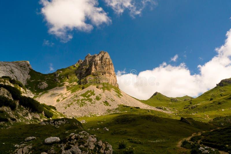 Высокогорный ландшафт с горой Rossköpfe, Австрией стоковые фотографии rf