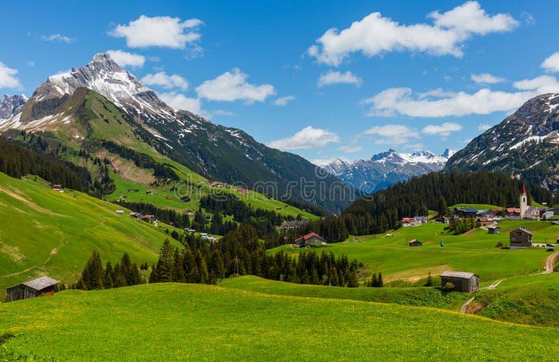 Высокогорный взгляд Форарльберг, Австрия стоковые изображения