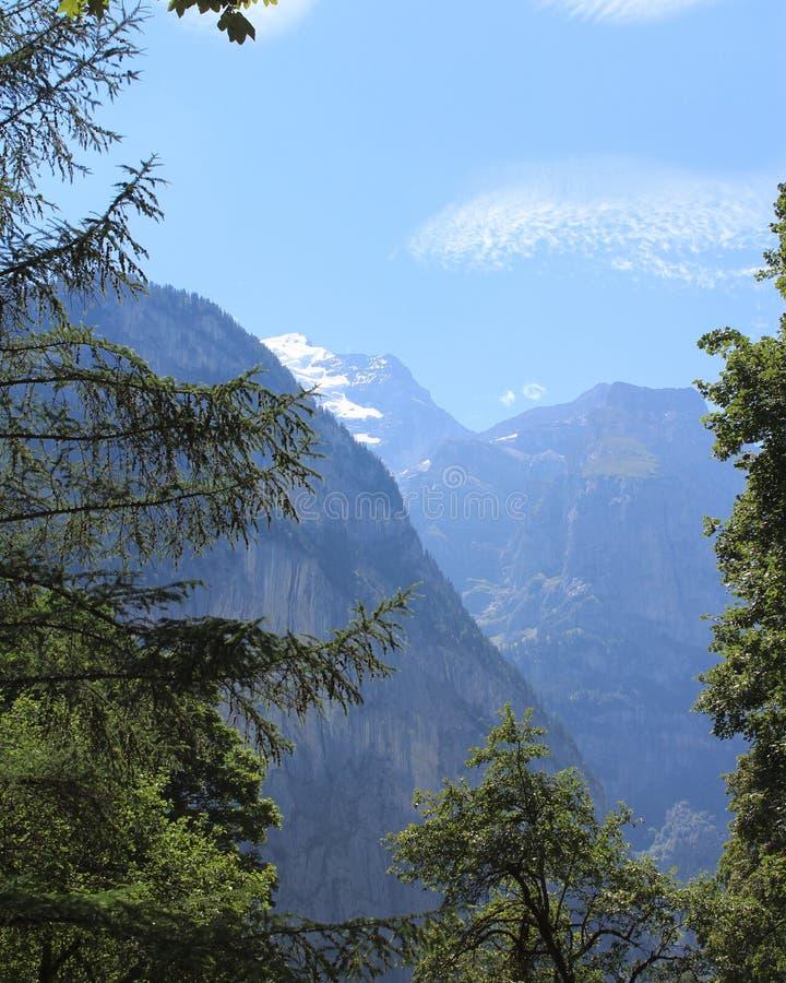 Высокогорный горный вид стоковая фотография rf