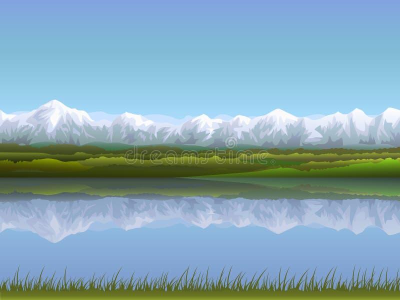 высокогорный ландшафт иллюстрация штока