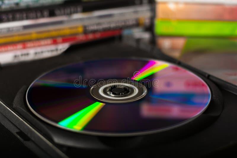 высокое качество dvd диска 3d представляет стоковое фото