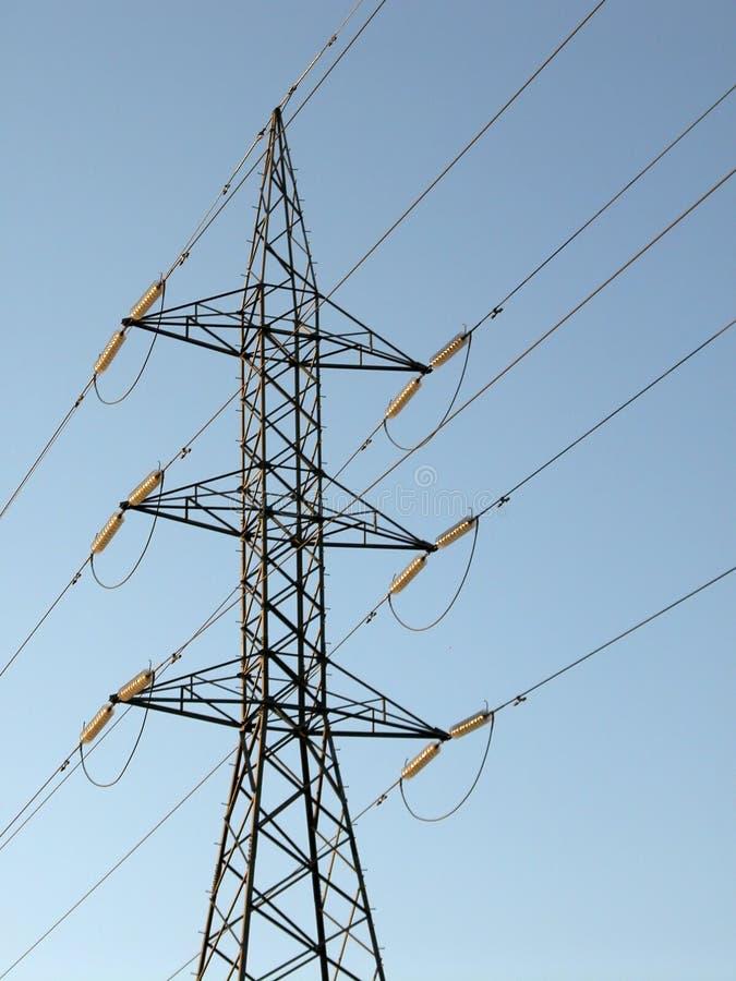 высокое напряжение тока опоры стоковое фото rf