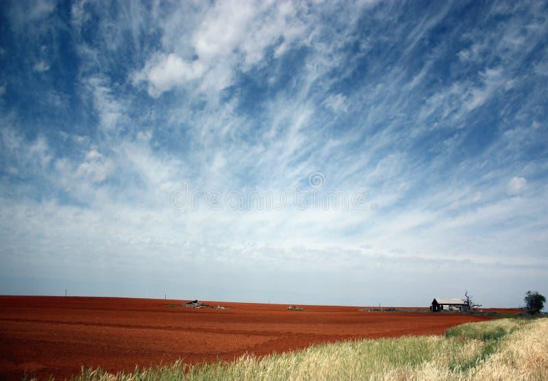 Высокое сельскохозяйственное угодье равнин стоковое изображение