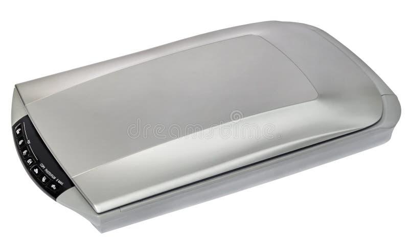 Высокое фото разрешения и планшетный сканер документа изолированный на белой предпосылке стоковая фотография rf