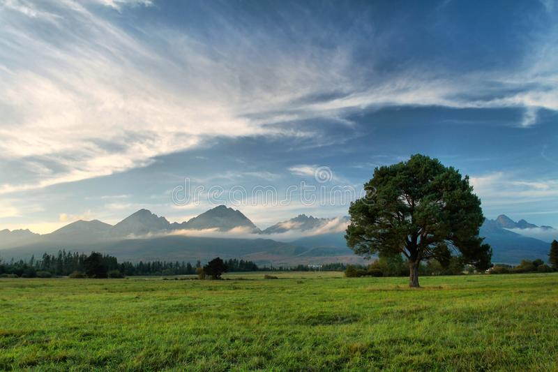 Высокое Tatras в Словакии стоковая фотография