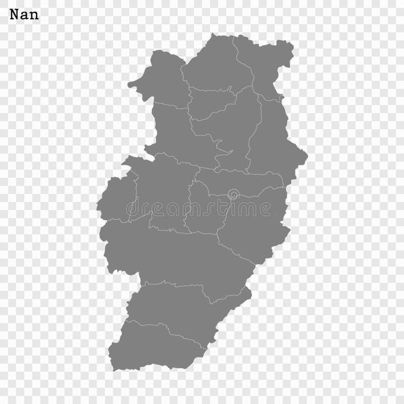 Высококачественная карта провинция Таиланда иллюстрация штока