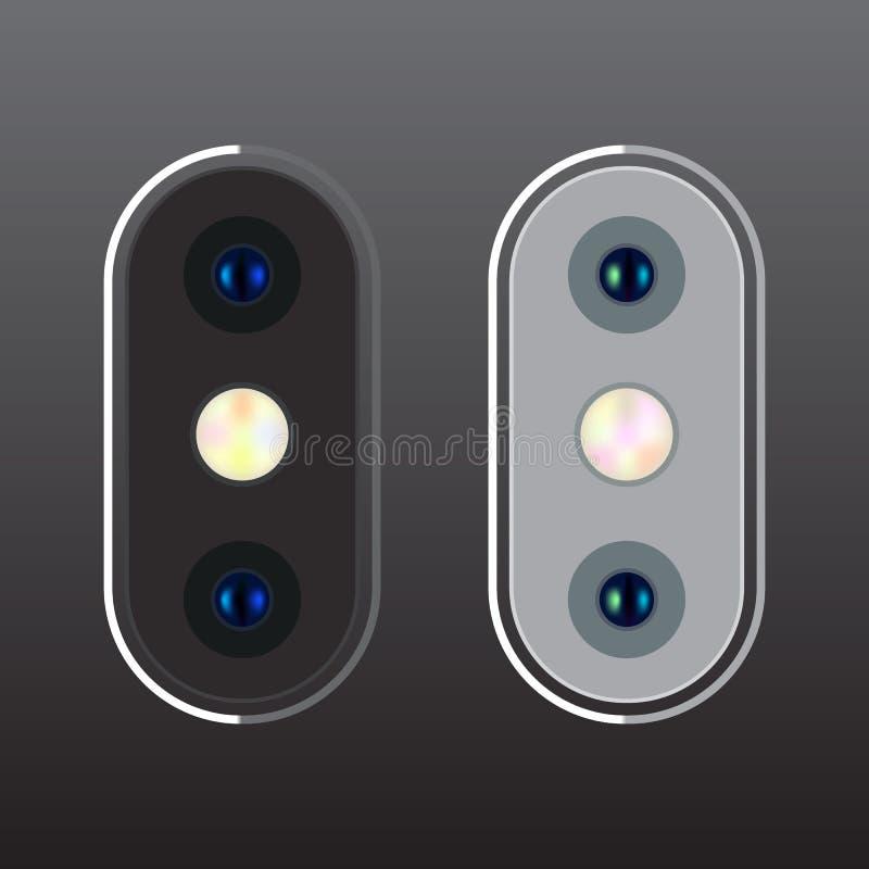 Высококачественная реалистическая вертикальная камера для мобильного телефона стоковое фото