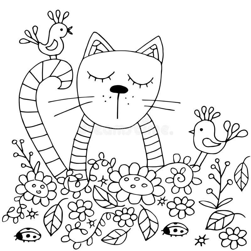 высококачественные первоначально страницы расцветки для взрослых и детей иллюстрация вектора