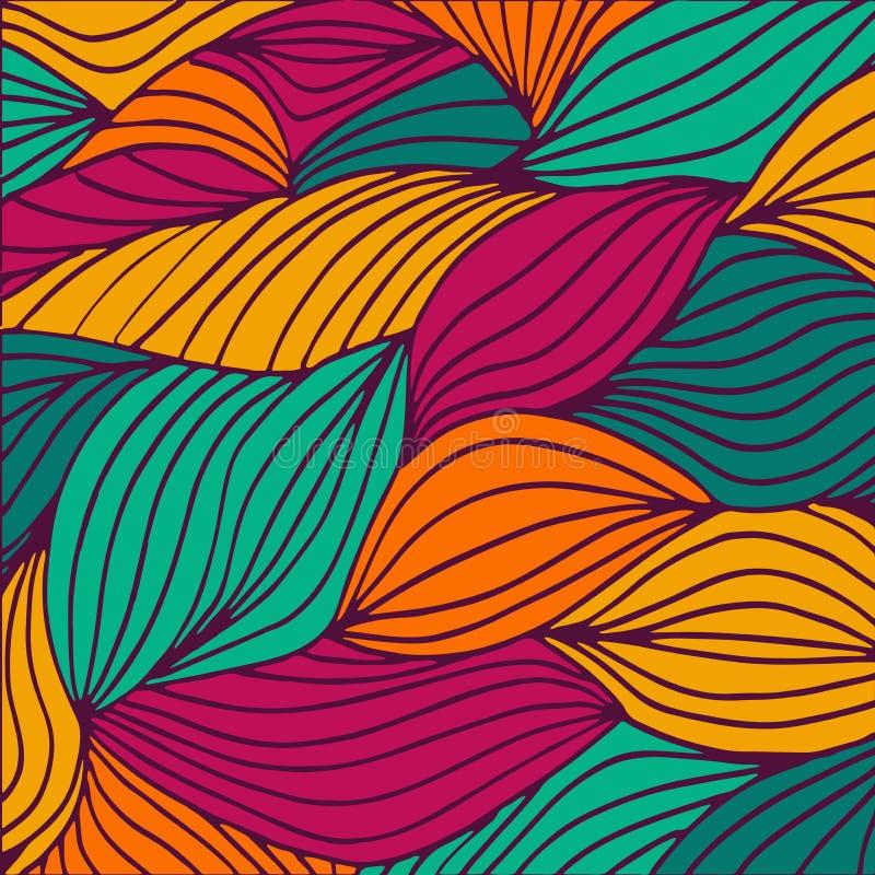 Высококачественный оригинал покрасил картину волн для дизайна или моды иллюстрация вектора