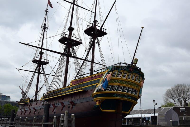 Высокорослый корабль от 1748, отстраивать около 2016 стоковые фото