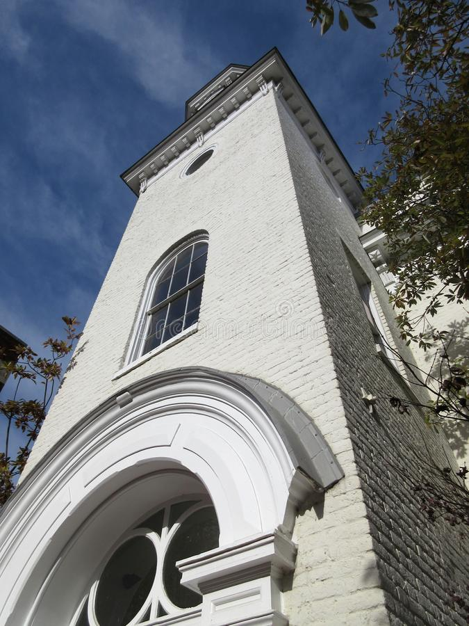 Высокорослый Steeple часовни в Джорджтаун стоковое фото