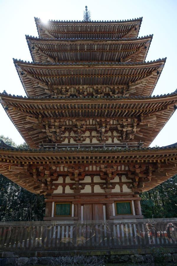 Высокорослая башня в виске Daigoji, Киото стоковые изображения