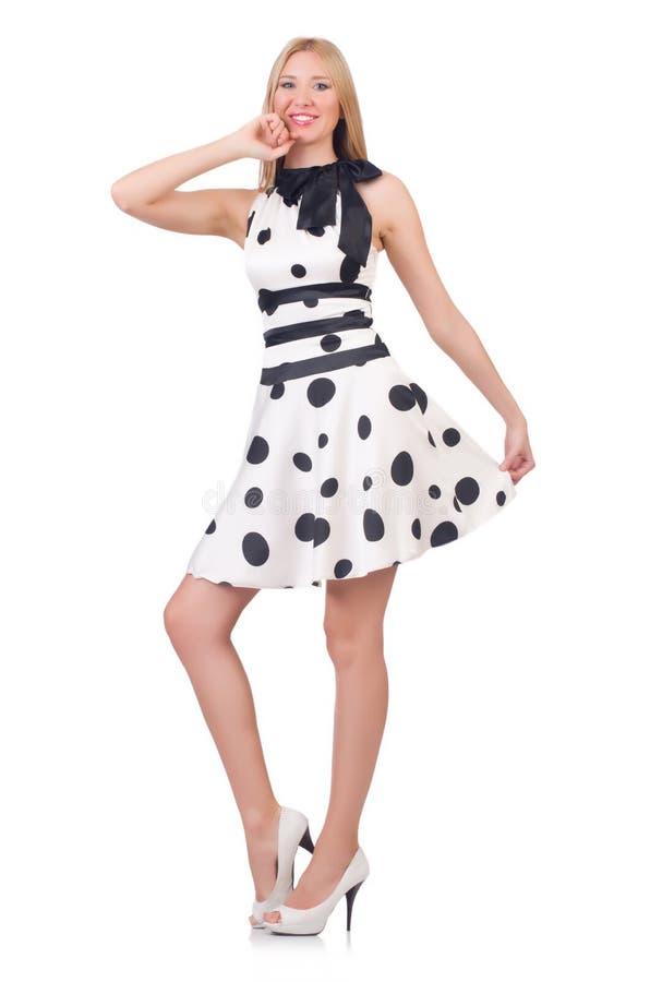 Высокорослая модель одетая в платье стоковые изображения rf