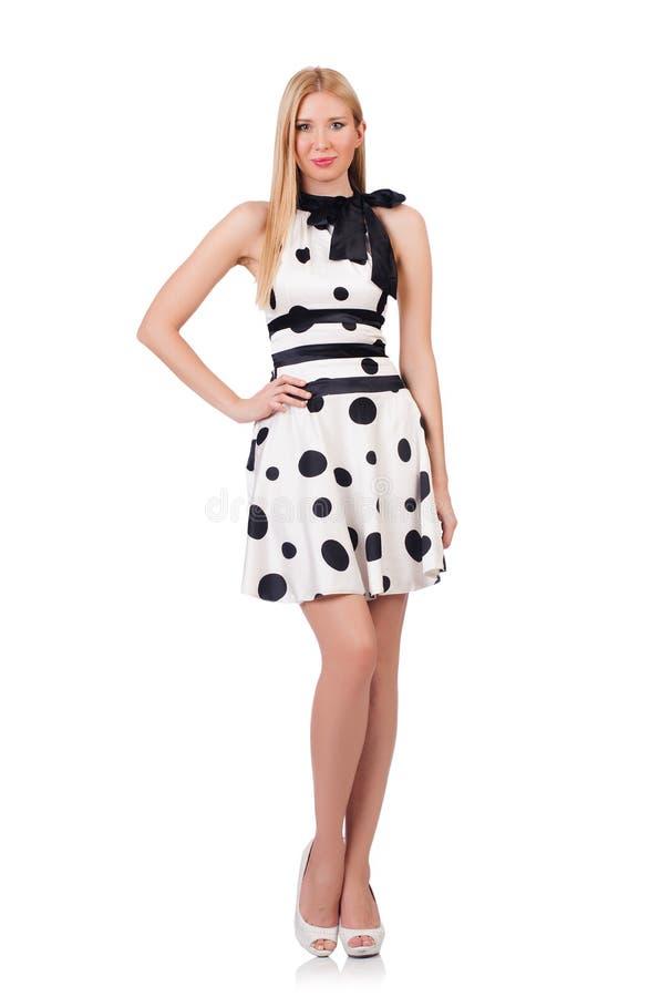 Высокорослая одетая модель стоковое изображение