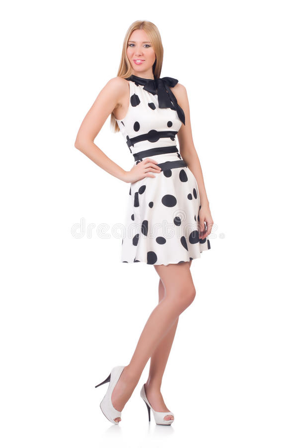 Высокорослая одетая модель стоковое изображение rf