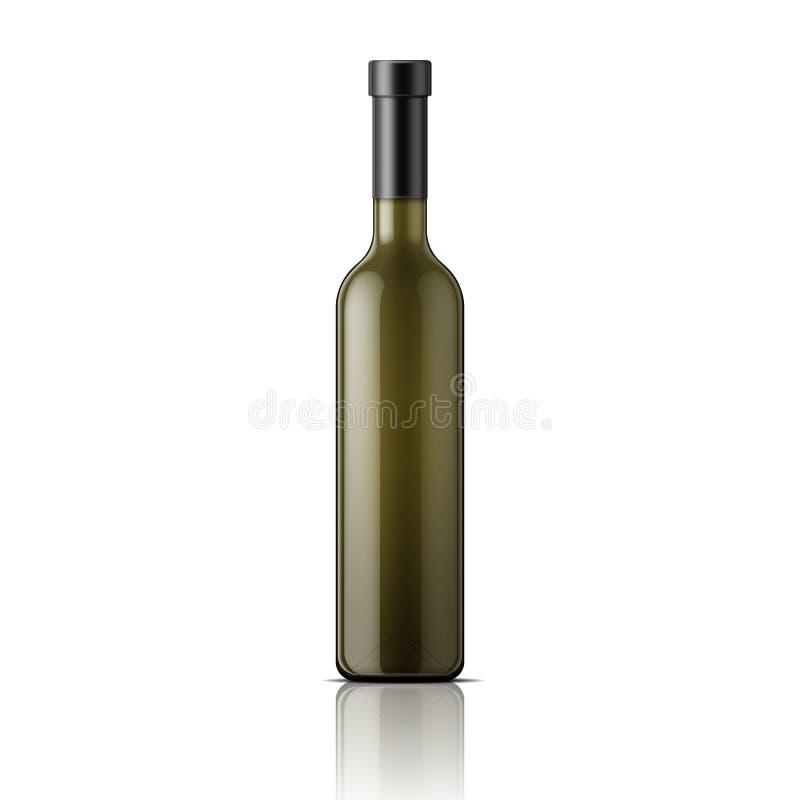 Высокорослая стеклянная бутылка вина бесплатная иллюстрация