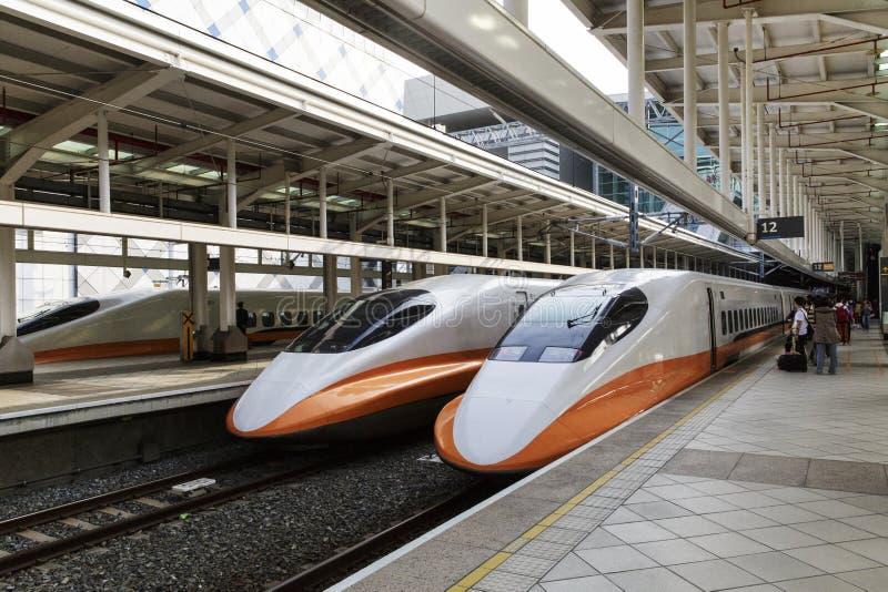 Высокоскоростная железнодорожная станция в Тайване стоковое изображение rf