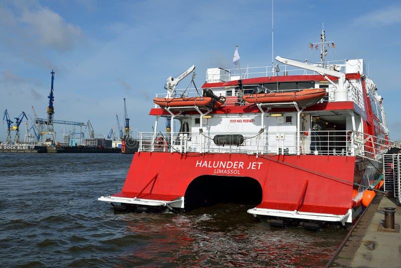 Высокоскоростной двигатель Halunder катамарана стоковые фотографии rf