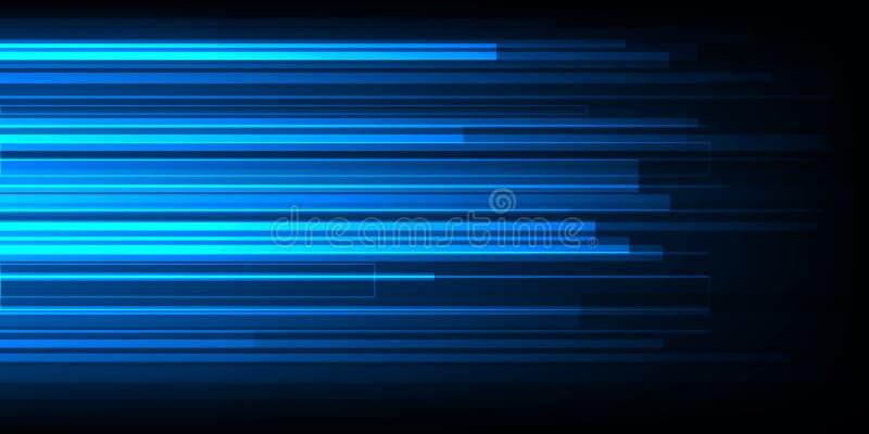 Высокоскоростной дизайн движения Высок-техник абстрактная технология предпосылки также вектор иллюстрации притяжки corel бесплатная иллюстрация