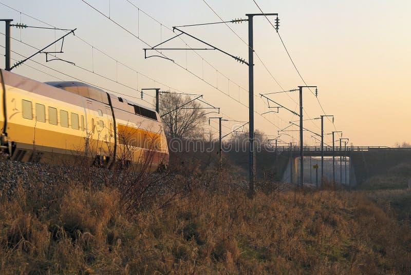 высокоскоростной поезд стоковое фото