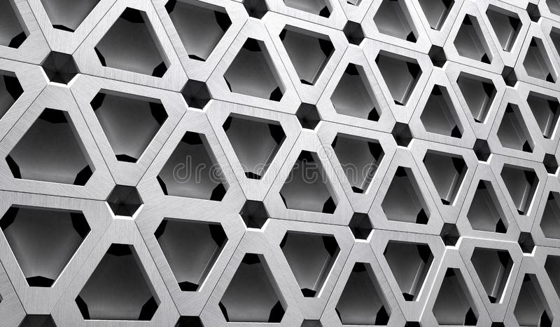 Высокотехнологичная иллюстрация решетки 3D металла иллюстрация штока