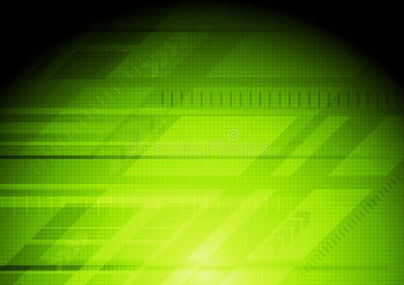 высокотехнологичное конструкции зеленое иллюстрация вектора