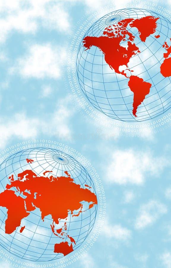 высокотехнологичный мир иллюстрация вектора